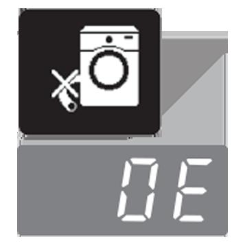 معنی ارور 0E در لباسشویی F4J6 الجی